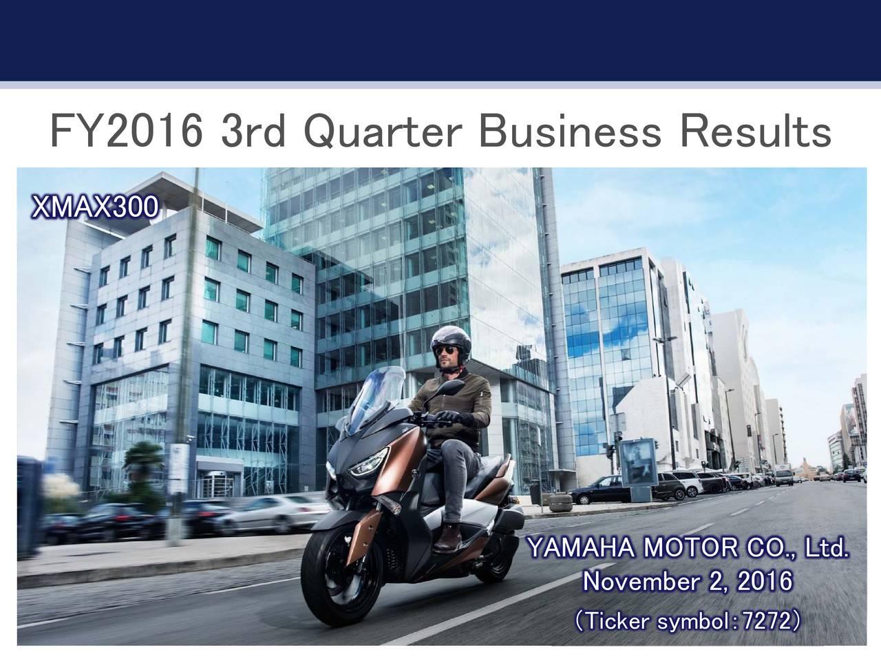 yamaha motor co ltd adr 2016 q3 results earnings call slides [ 1280 x 960 Pixel ]