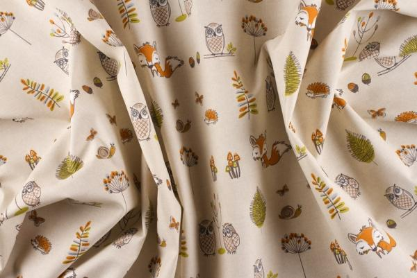 Woodland Creatures Design Curtains Funky Nursery For Gorgeous