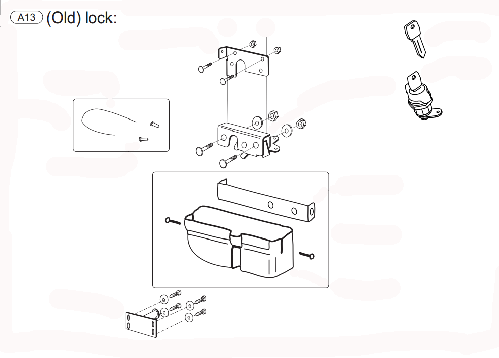 Mountain Top Spare Part: Lock set (old type) A13 Up