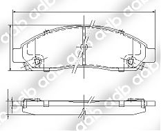 DB1468-4WD FRONT DISC PAD SET HOLDEN RODEO 2003- ADB1468