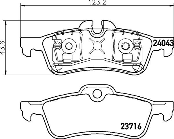 8DB 355 011-351 DISC PAD SET REAR PREPARED FOR WEAR
