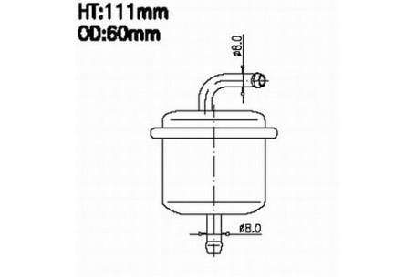 FS29296 FUEL FILTER FOR TOYOTA 23300-87219 WESFIL WZ518