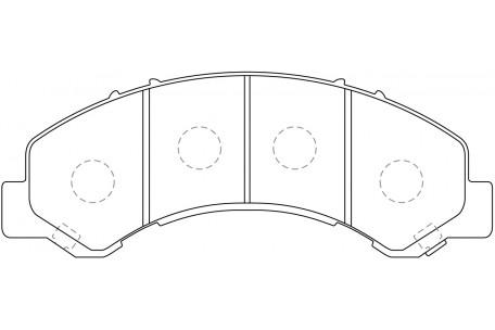 PN4491 DISC PAD SET NiBK JNBK FRONT REAR KIT ISUZU ELF
