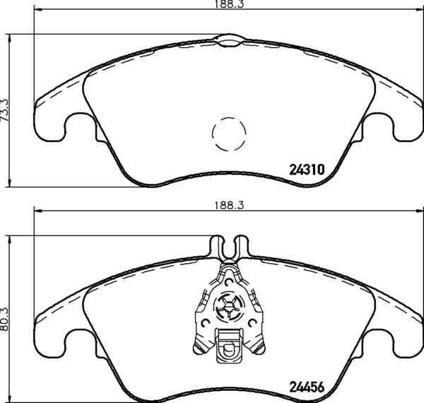 8DB 355 012-621 DISC PAD SET FRONT PREPARED FOR WEAR