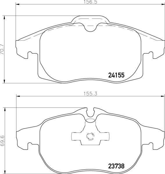 8DB 355 012-681 DISC PAD SET FRONT PREPARED FOR WEAR