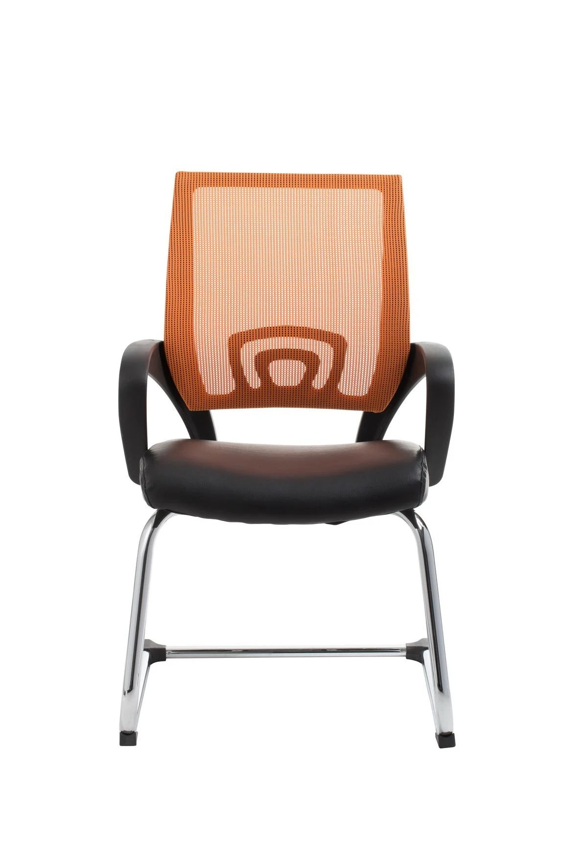 orange office chair portable desk and combo view visitor in furniture store