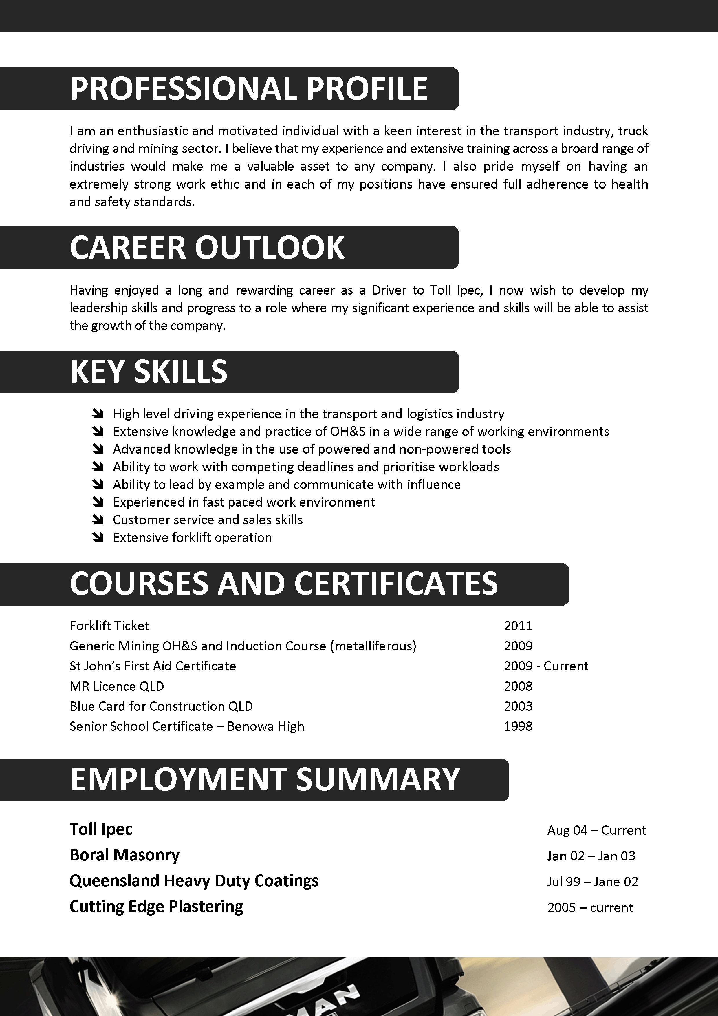 resume sample for a truck driver sample customer service resume resume sample for a truck driver truck driver resume samples cover letters and resume truck driver