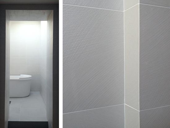 porcelain floor kitchen base cabinet pull outs minimalism + modern bath details / myd blog moss yaw ...