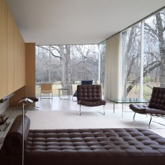 Living Room Office Dark Brown Couch Ideas Fall At The Farnsworth House... / Myd Blog Moss Yaw ...