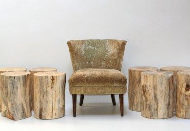 Modern Tree Stump Table