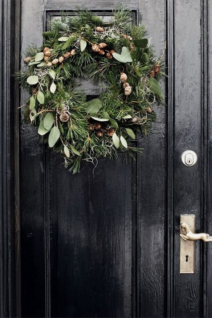 Wreaths Always Look Better On A Black Door DESIGNED