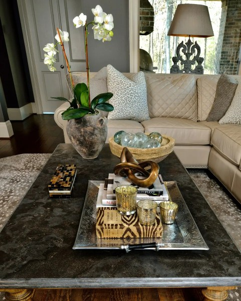round coffee table tray decorating ideas How To Style Your Coffee Table — An Interior Designer Reveals Her Best Tips & Tricks! — DESIGNED