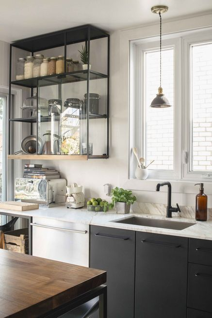 black faucet kitchen thermador package must see now trending in cool finishes is hot designed pictured this sink countertop lighting image source