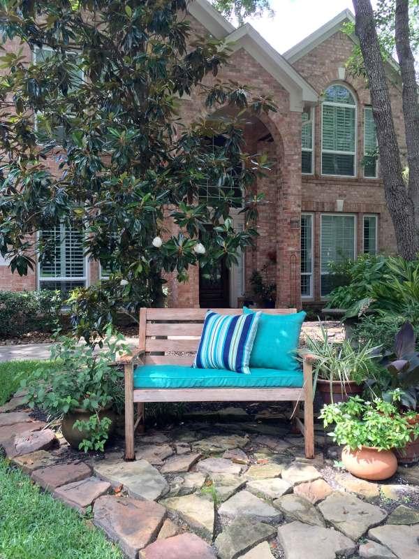 corner of backyard