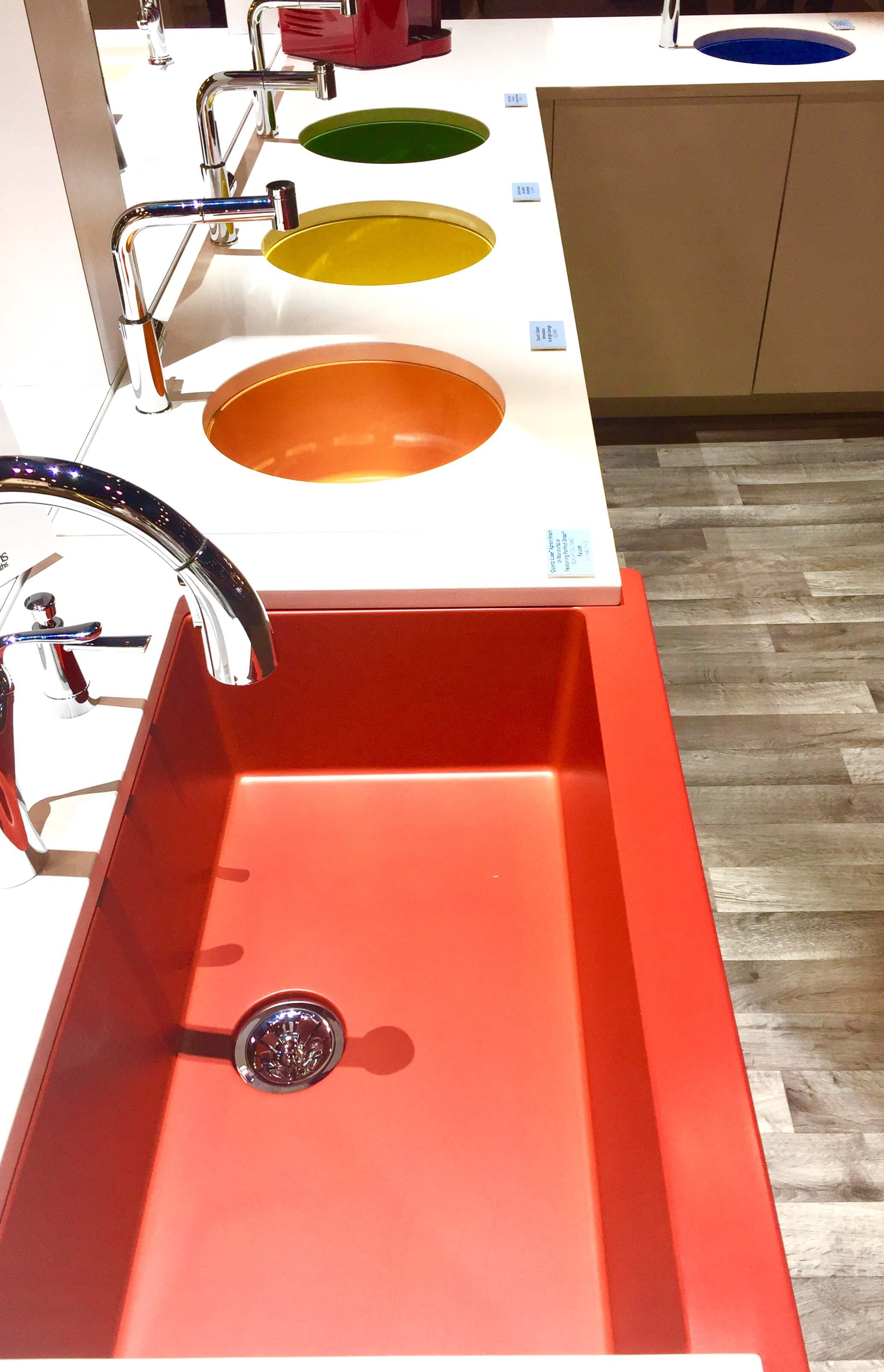 colored kitchen sinks country design ideas and bath trends at kbis 2017 - faucets ...