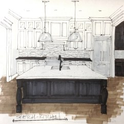 Kitchen Pendant Lights Narrow Sink 7 Considerations For Island Lighting Selection Remodel Design Concept Sketch Carla Aston Pendantlighting Kitchenlighting