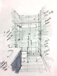 Design Plan For A 5 x 10 Standard Bathroom Remodel  DESIGNED