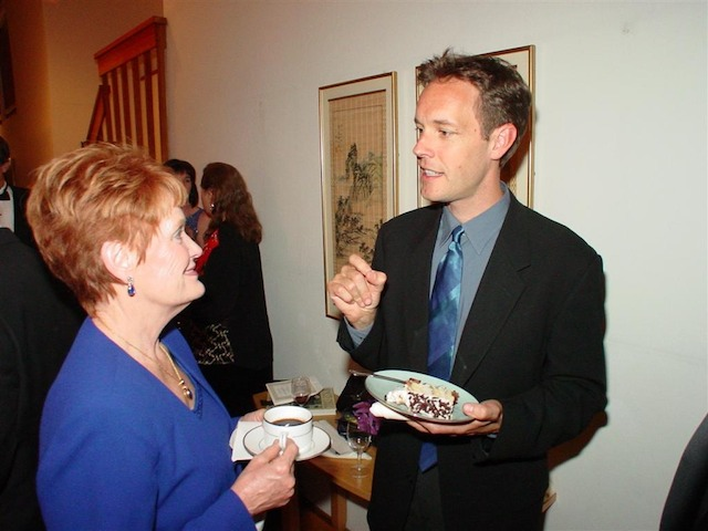 Carol Snell Cyr and composer Jake Heggie