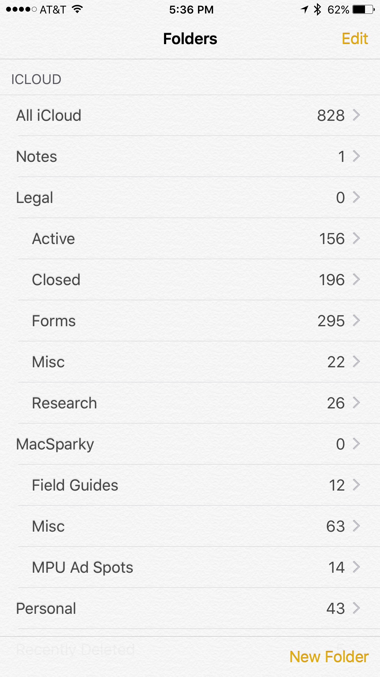 Nesting Folders in Apple Notes — MacSparky