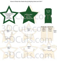 3d star nativity shadow box cutting files in svg pdf png and dxf [ 1000 x 988 Pixel ]