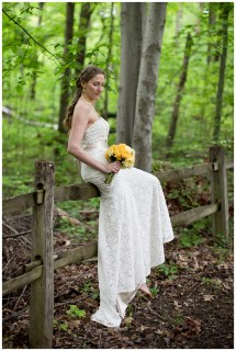 Barefoot Back Yard Wedding Bride