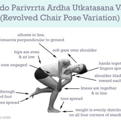 Yoga Chair Pose Infant Camping Revolved Variation Yogabycandace How To Do