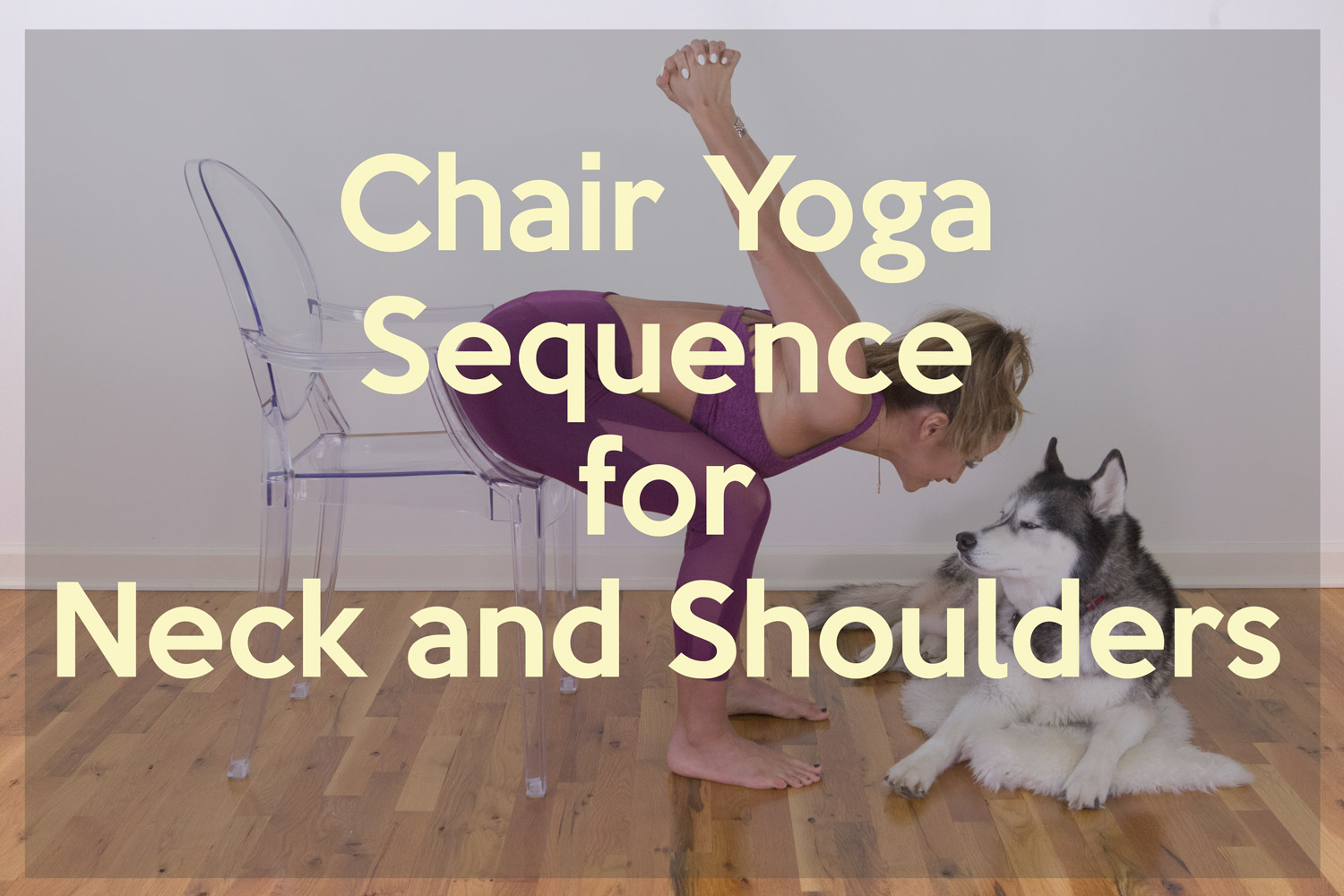 Chair Yoga Sequence for Neck and Shoulders  YOGABYCANDACE