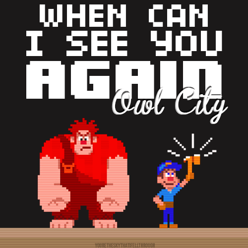 Music Mondays When Can I See You Again? (wreck It Ralph