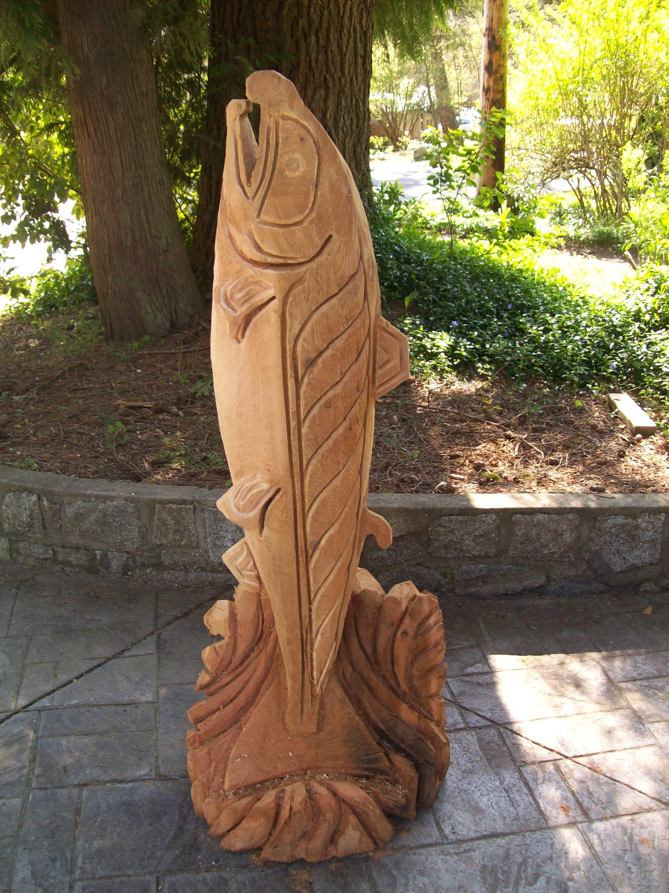 sculptures  chainsaw carvings  West Coast Wood  Iron