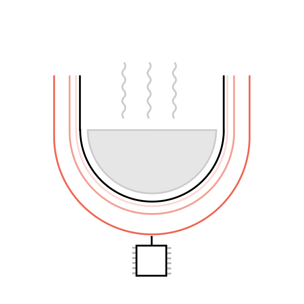 medium resolution of magnetic coils are used to pass current into the cooking pan allowing a constant temperature to be given throughout the rice