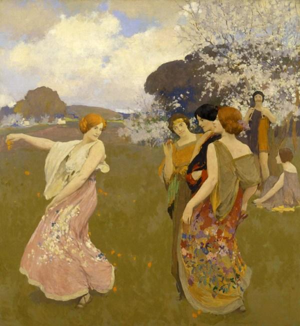 California Art Nouveau Artist Arthur Mathews Jesse Waugh