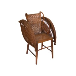 Childs Rattan Chair Rustic Dining Room Chairs Seating Kinder Modern Child