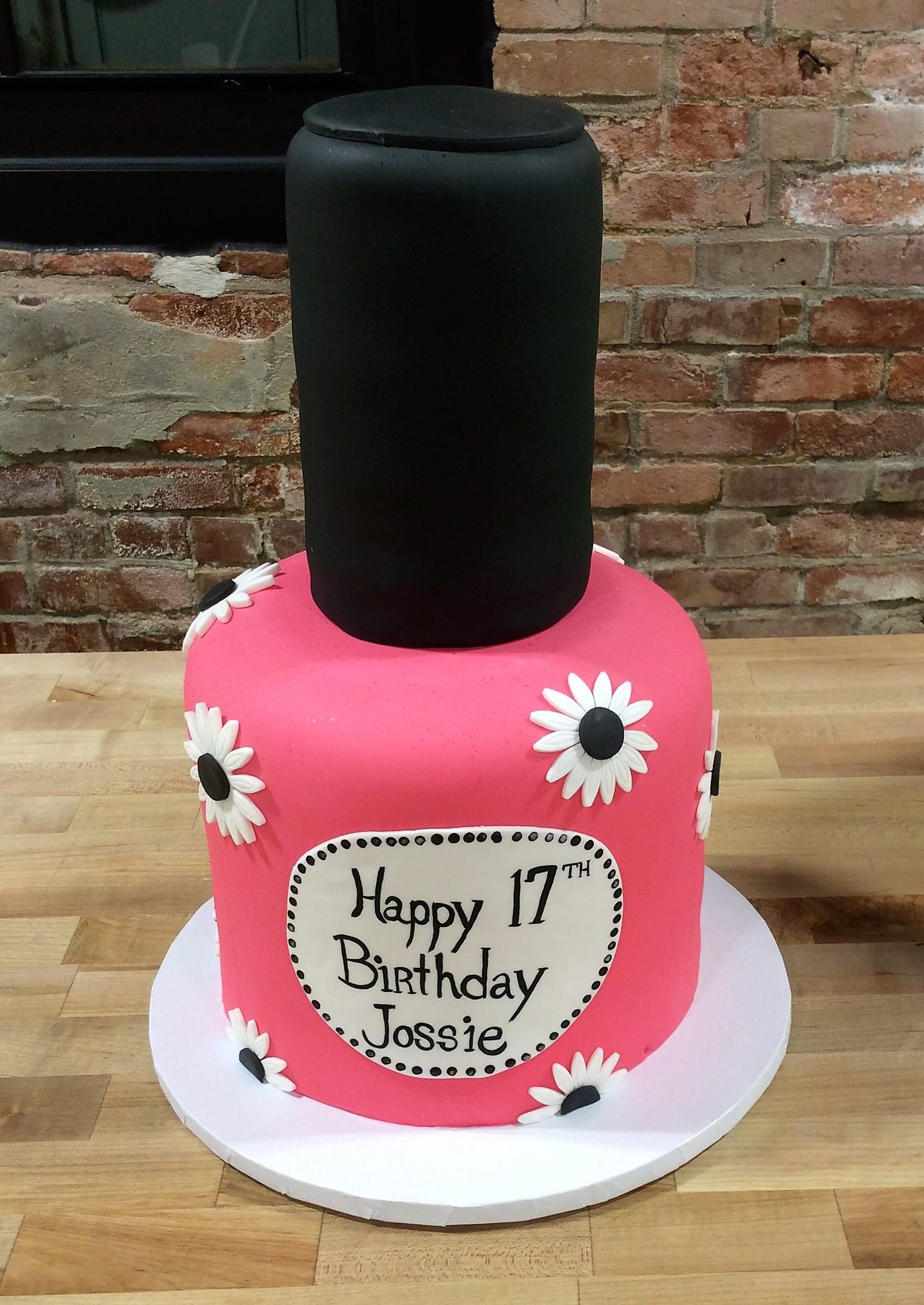 nail polish bottle shaped cake