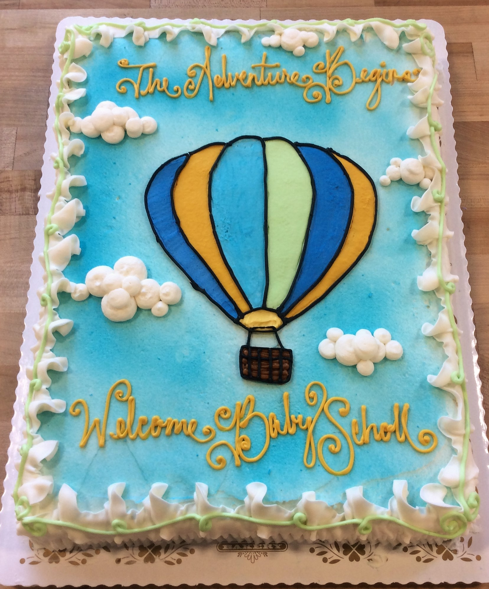 Hot air balloon decorated cake also sheet  trefzger  bakery rh trefzgersbakery