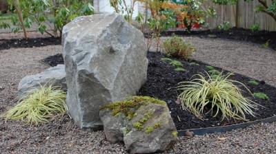 boulders in landscapes