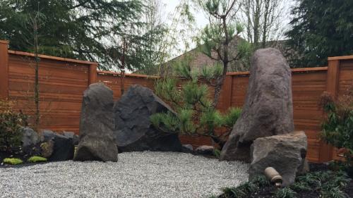 landscape boulder placement portland