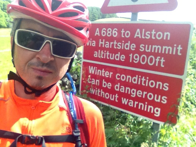 Nice to see a warning sign at the start of the climb!