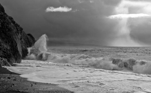 Storm approaching Criccieth Beach