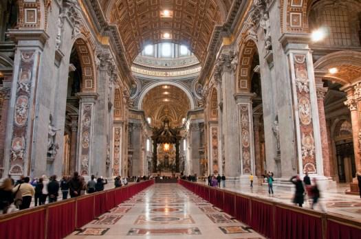 Inside St Peters Basilica