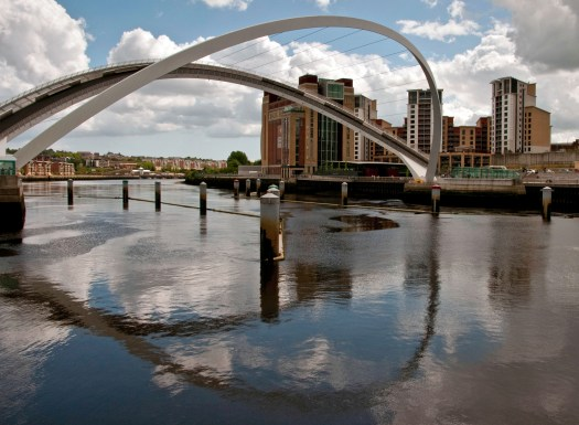 Gateshead Millennium Bridge Raised Newcastle