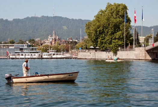 Fisherman on Lake Zurich