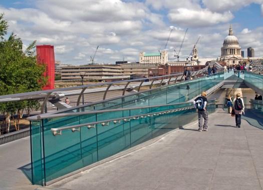 Millenium Bridge Walkway London England