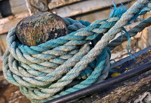 Blue Rope Detail at the Harbour