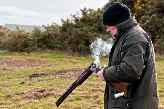 Smoking Shotgun being Reloaded