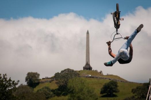Back flip kick at One Tree Hill