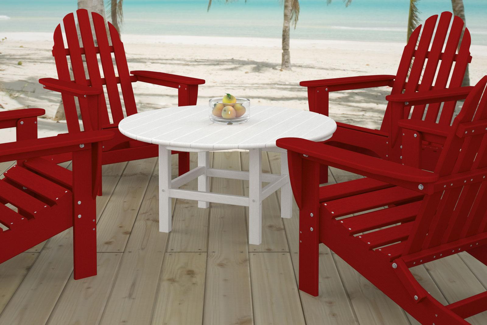 Red Plastic Adirondack Chairs