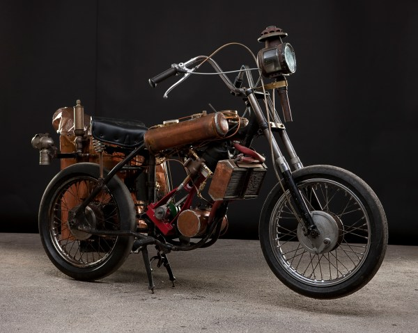 Steampunk Steam-Powered Motorcycle