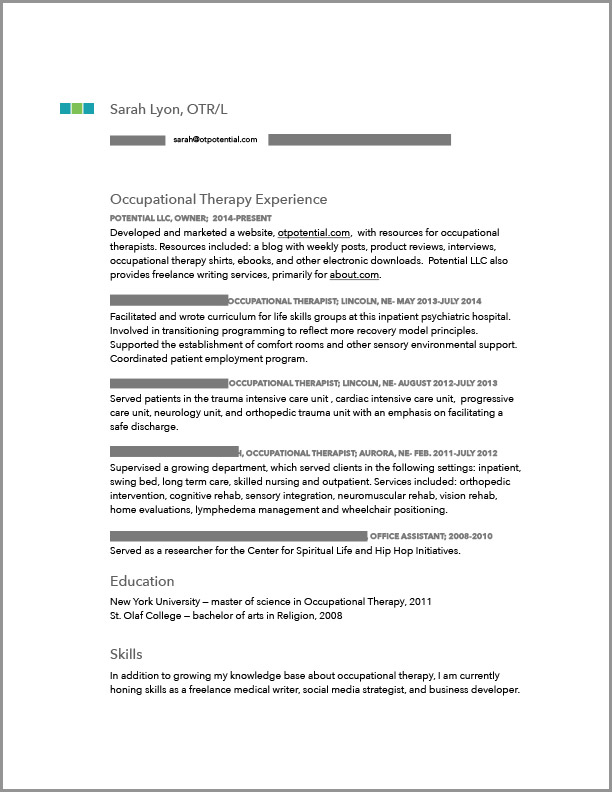 sample resume physical therapist inpatient rehab