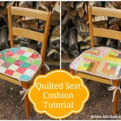 Sewing Patterns For Chair Cushions Black Adirondack Covers Home Love 1 Sewcanshe Free Beginners Quilted Revesable Seat Cushion Tutorial