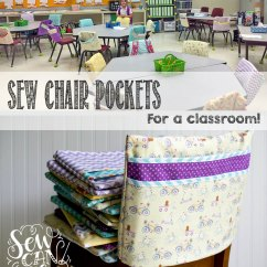 Diy Classroom Chair Covers Folding Outdoor Rocker Chairs Sew Pockets For A The Fast Easy Way Sewcanshe Free Sewing Patterns Beginners